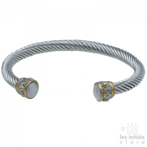 gold and silver bangle bracelet womeen