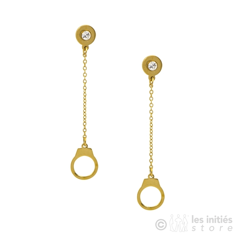 Pendant handcuff earrings