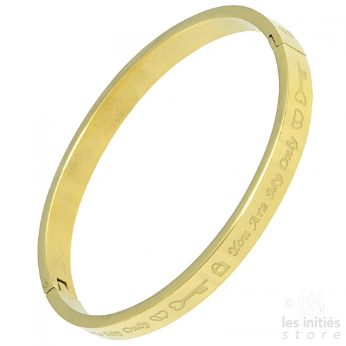 bangle with engraved text