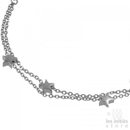 Double row star bracelet -...