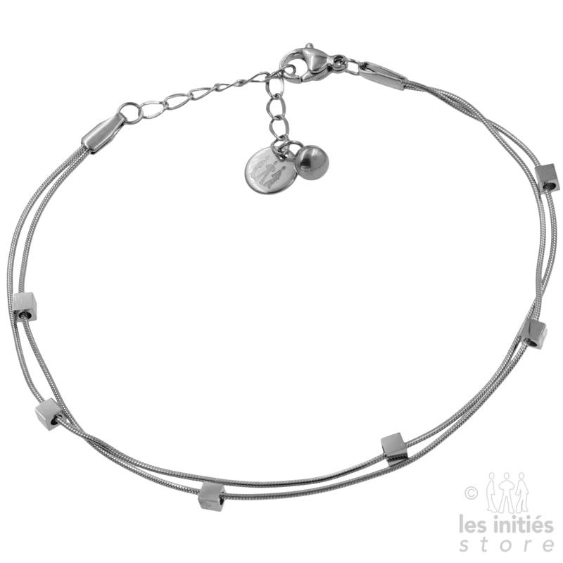 bracelet de pied argent