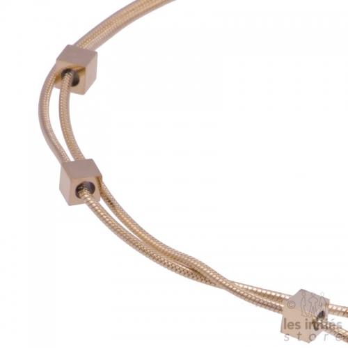 bracelet de cheville doré rosé