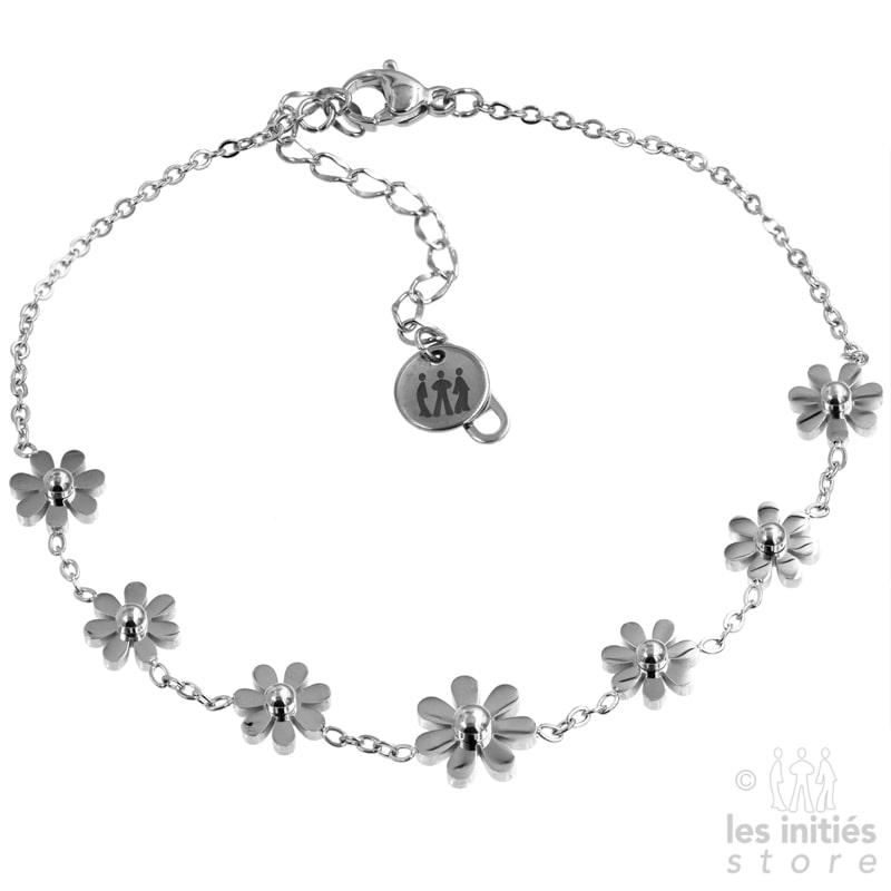 bijou de cheville petites fleurs
