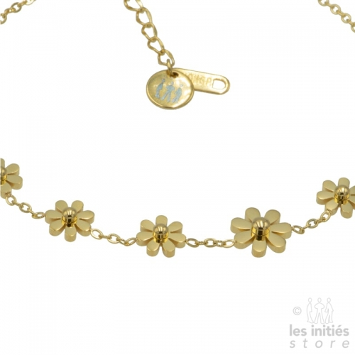 golden ankle chain daisy