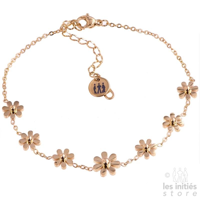 chaîne de chevilles fleurs