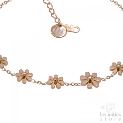 bracelet de cheville fleurs