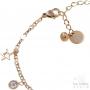 bracelet étoile et strass de pied