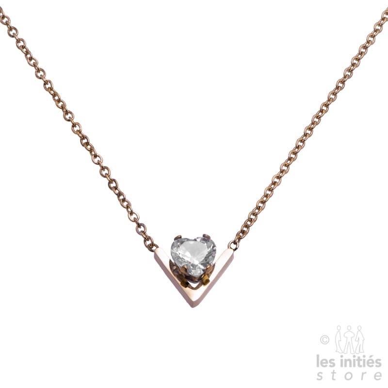 collier géométrique diamant