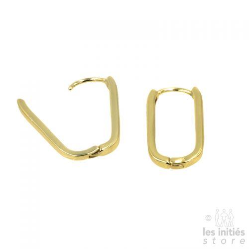 boucles d oreilles ovales dorées