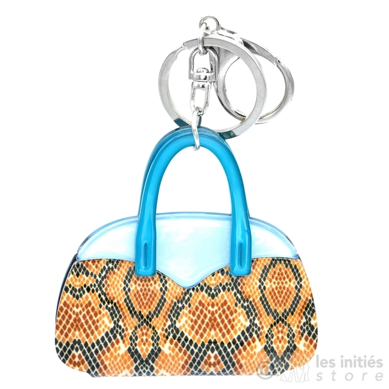 Porte clé sac bleu Les Timbrées