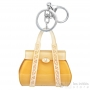 porte clés sac jaune