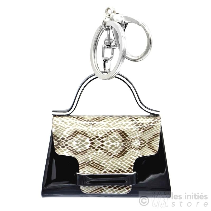 porte clés sac noir