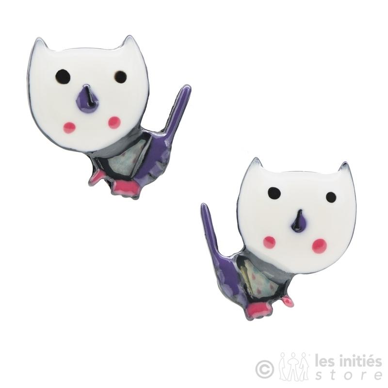 Boucles d'oreilles petits chats