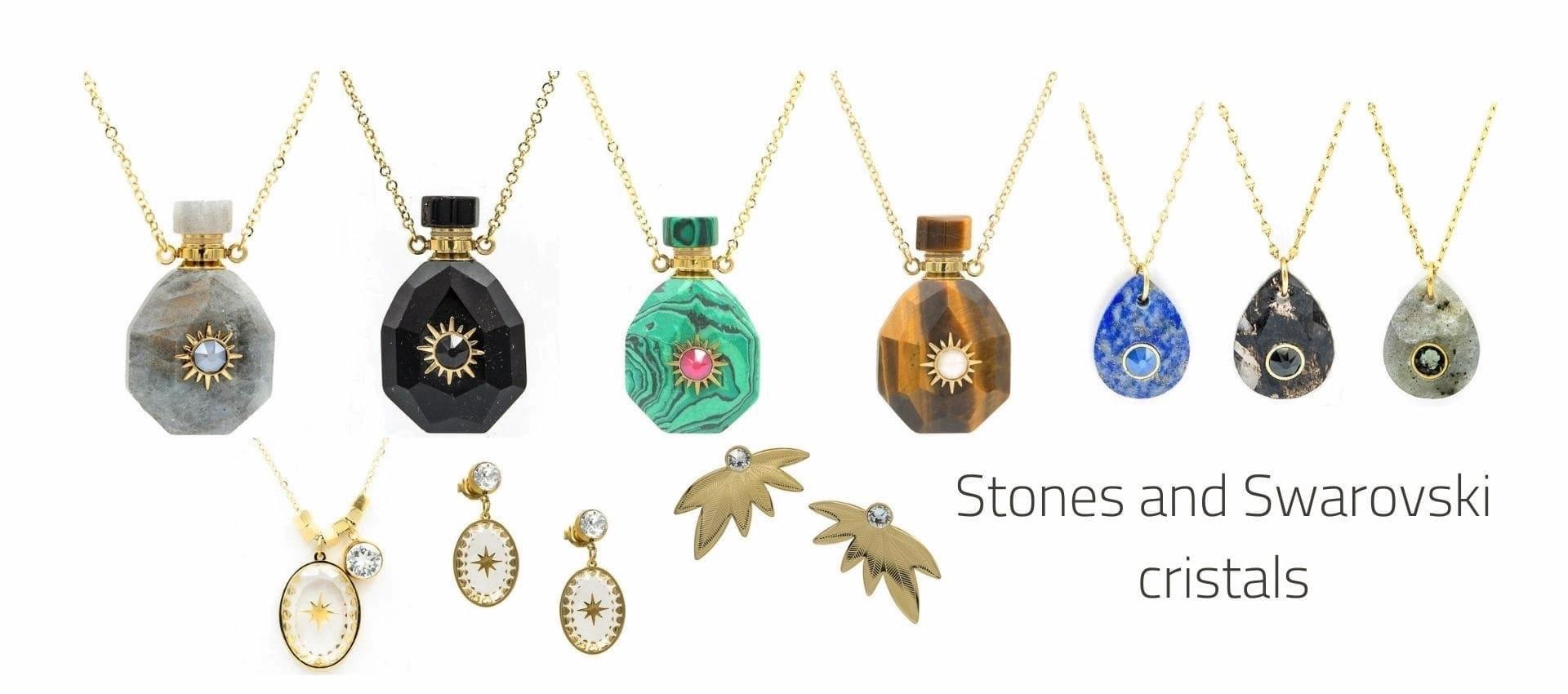 Jewellery adorned with Swarovski crystals